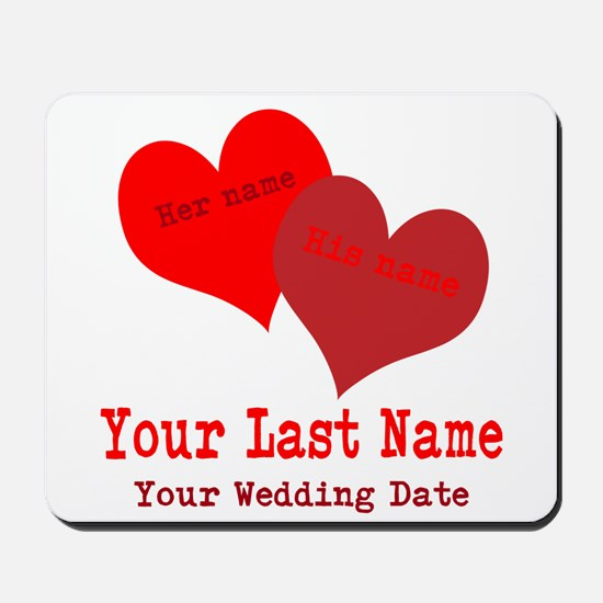 Wedding Hearts Mousepad