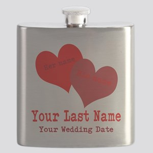 Wedding Hearts Flask