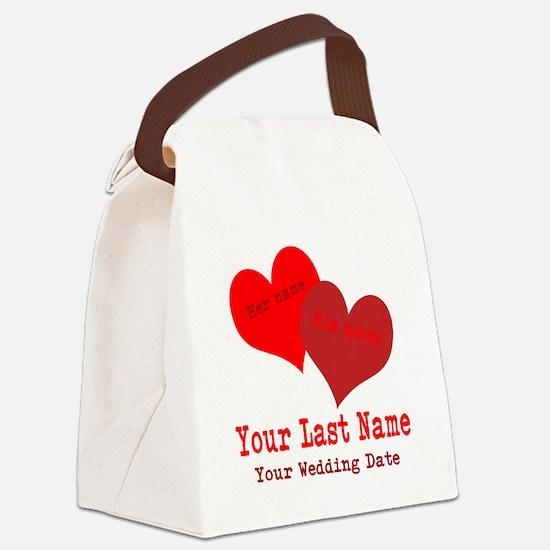 Wedding Hearts Canvas Lunch Bag