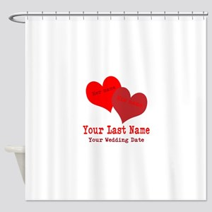 Wedding Hearts Shower Curtain
