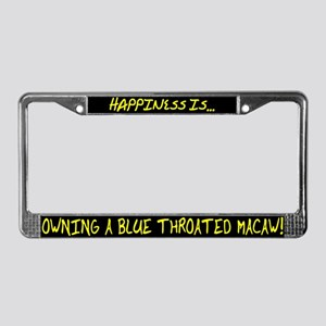 HI Owning Blue Throated Macaw License Plate Frame
