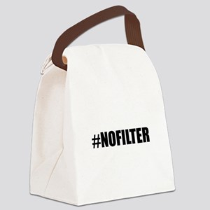 Hashtag No Filter Canvas Lunch Bag
