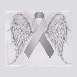 In Memory of - Silver Throw Blanket