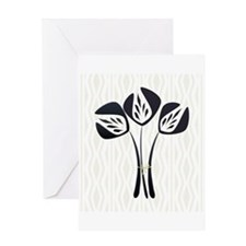 Chic Black Tulip Greeting Card