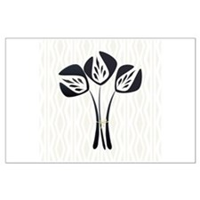 Chic Black Tulip Large Poster