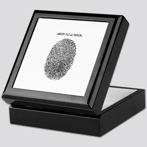Thumb Print Keepsake Box