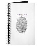 Thumbprint fingerprint Journals & Spiral Notebooks