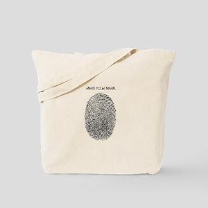 Thumb Print Tote Bag