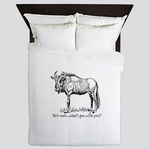 Whats Gnu? Queen Duvet