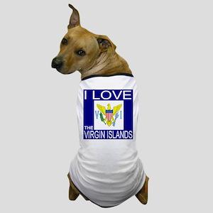 I Love The Virgin Islands Dog T-Shirt