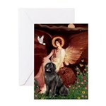 Angel & Newfoundland Greeting Card