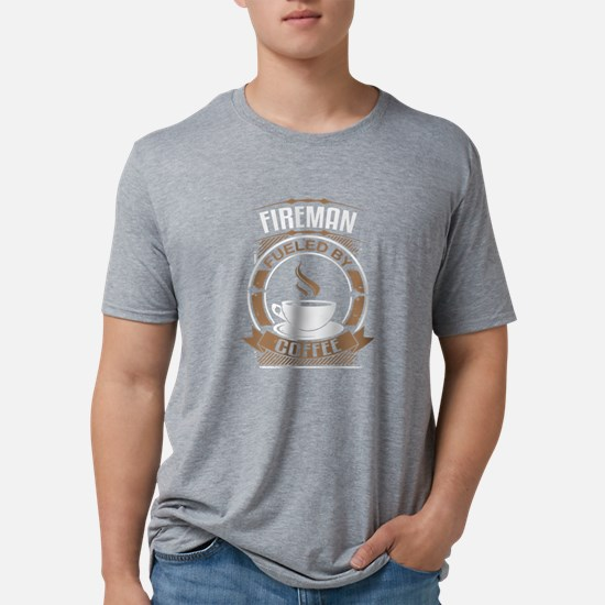 Fireman Fueled By Coffee T-Shirt