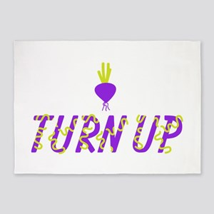 Turn Up Turnip 5'x7'Area Rug