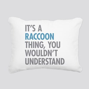 Raccoon Thing Rectangular Canvas Pillow