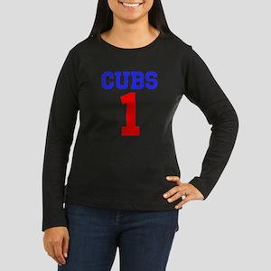 CUBS #1 Women's Long Sleeve Dark T-Shirt