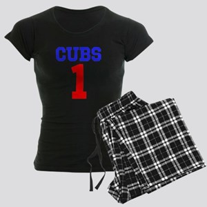 CUBS #1 Women's Dark Pajamas