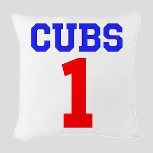 CUBS #1 Woven Throw Pillow