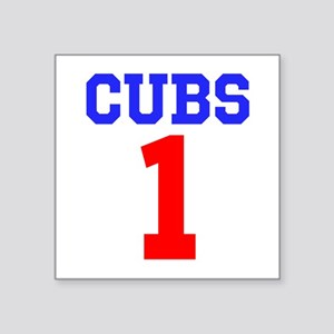 "CUBS #1 Square Sticker 3"" x 3"""