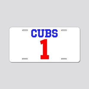 CUBS #1 Aluminum License Plate