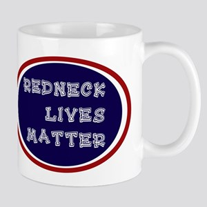 Redneck White and Blue Mugs