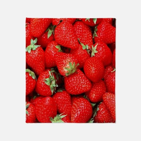 Strawberry Flip Throw Blanket