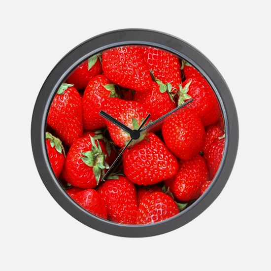 Strawberry Flip Wall Clock