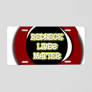 Neon Redneck Lives Matter B Aluminum License Plate