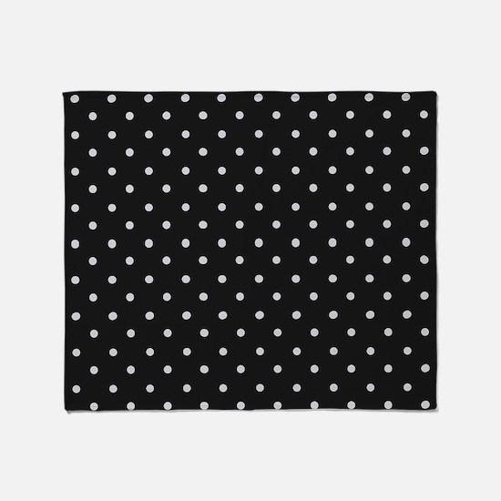 Black and White Polka Throw Blanket