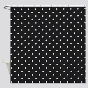 Black And White Polka Shower Curtain