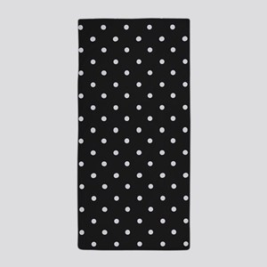 Black and White Polka Beach Towel