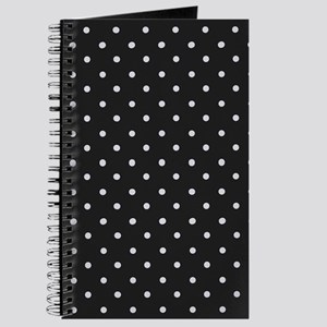 Black and White Polka Journal