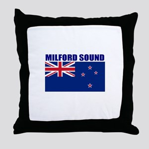 Milford Sound, New Zealand Throw Pillow