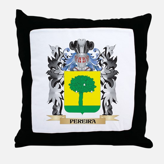 Pereira Coat of Arms - Family Crest Throw Pillow