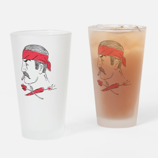 Cute Scar face Drinking Glass