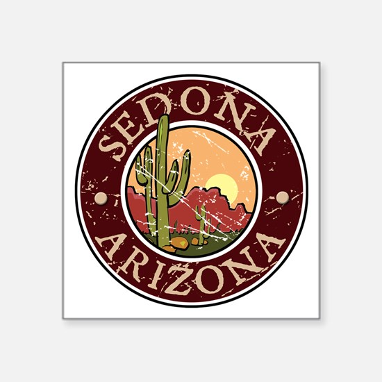 """Unique I heart arizona Square Sticker 3"""" x 3"""""""
