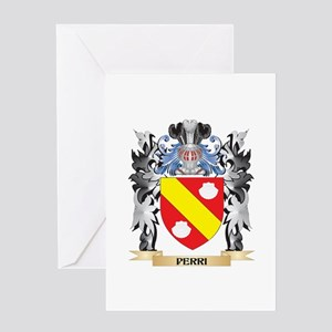 Perri Coat of Arms - Family Crest Greeting Cards