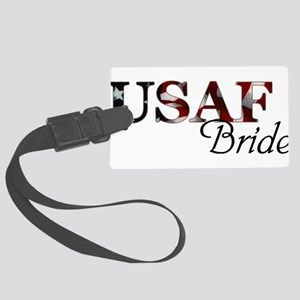 Bride USAF_flag  Large Luggage Tag