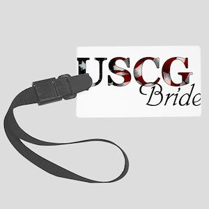 Bride USCG_flag  Large Luggage Tag