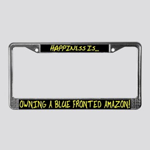 HI Owning Blue Fronted Amazon License Plate Frame