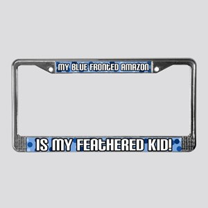 Blue Fronted Amazon Fid License Plate Frame