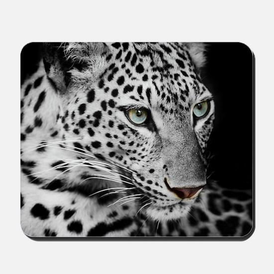 White Leopard Mousepad