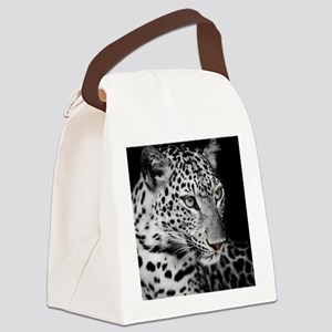 White Leopard Canvas Lunch Bag