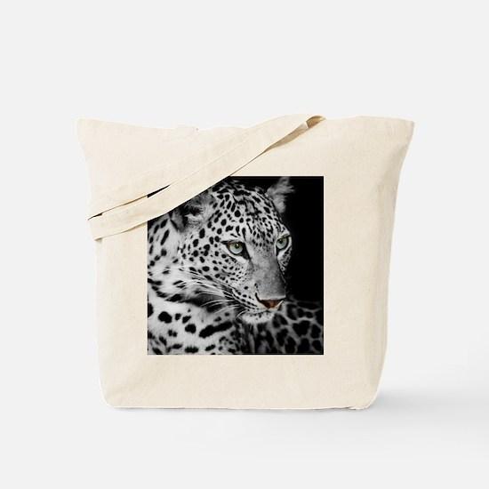 White Leopard Tote Bag