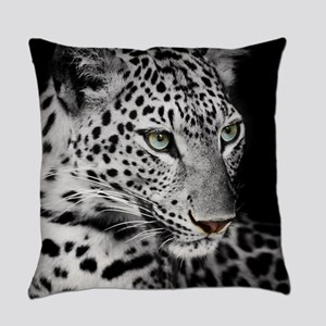 White Leopard Everyday Pillow