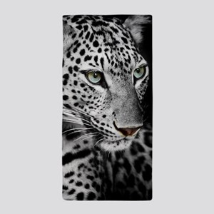 White Leopard Beach Towel