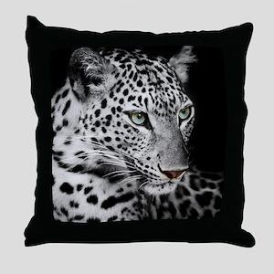 White Leopard Throw Pillow