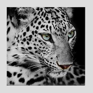 White Leopard Tile Coaster