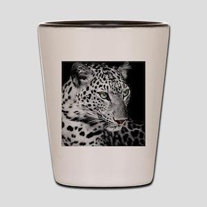 White Leopard Shot Glass