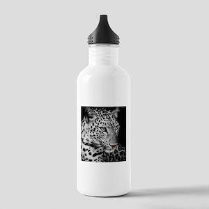 White Leopard Water Bottle