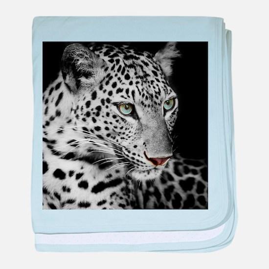 White Leopard baby blanket